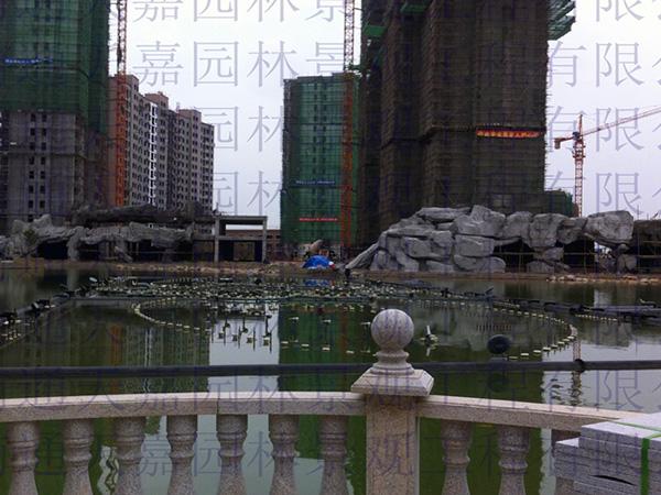 河南周口融辉城20000平方大型爱博体育bet施工现场图